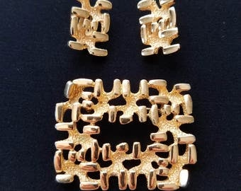 Napier Brooch and Earrings Set  #25