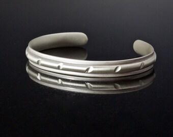 Sterling Silver Comfort Fit Cuff Bracelet, Mens Cuff Bracelet, Unisex Cuff, Artisan Metalwork, Forged cuff Bracelet, Chunky Cuff