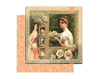 Graphic 45 Portrait of a Lady Collection 12 x 12 Card Stock