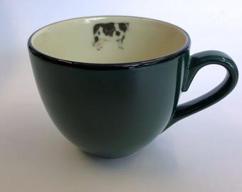 International Tableworks Cow Mug Green Cream