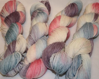 Superwash Hand Dyed Sock Yarn:  Corsets and Cupcakes