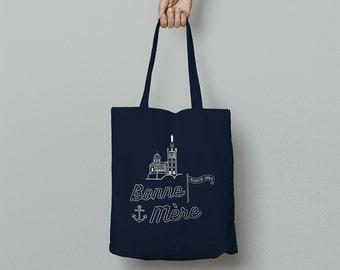 "Bag Tote GOOD MOTHER ""MARSEILLE"" Tote Bag - Navy Blue / Navy Blue"