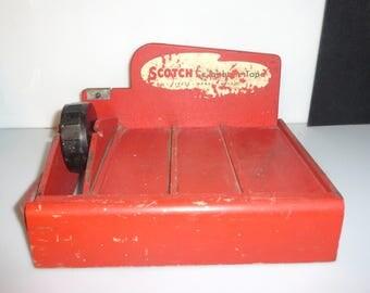 8-0916(1)B10 -- Antique Merchandise Store Display SCOTCH BRAND Scotch Tape Wood Display Tape Dispenser
