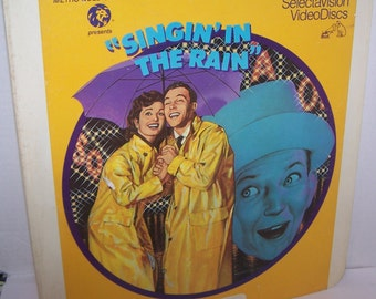 Singin In The Rain - Gene Kelly ~ Debbie Reynolds ~ Donald O'Connor ~ Vintage CED Single Movie Disc ~ Capacitance Electronic Discs