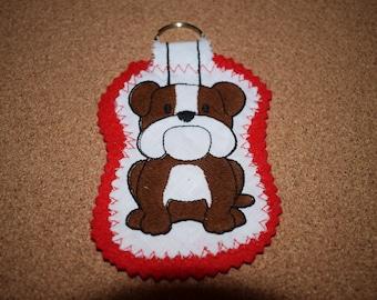 Bulldog Keyring, Bulldog Gift, Dog Keyring, Handmade Bulldog Keyring, Keyring, Bulldog, Bulldog Dog, Dog Gift, Handmade Dog Gift