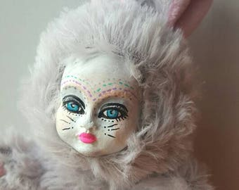 EASTER SALE!!Le Lapin- Easter Bunny Altered Art Doll/ Spring Art Doll