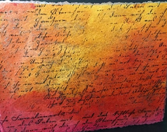 """Hand-Bound, Blank Watercolor Paper Journal 4""""x 6"""""""
