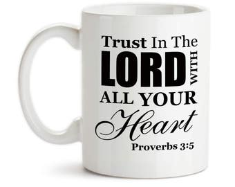 Proverbs 3 5 mug etsy coffee mug trust in the lord with all your heart proverbs 35 negle Gallery