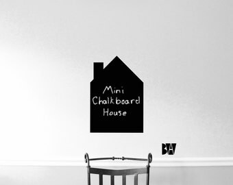Small Chalkboard House. Child's Room Decal. Kitchen Chalkboard. Chalkboard vinyl. Wall Decal. Wall sticker. Home decor decals.