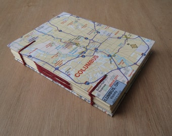 Custom Map Journal | Customized Travel Notebook | Missionary Journal | Travelers Notebook | Small Journal | Gift for her | Gift for him