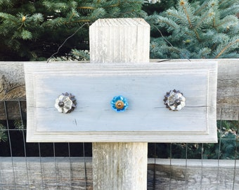 Reclaimed Barn Drawer with Glass Knobs