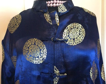 Blue Chinese Coat -XXL