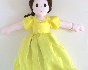 Handmade Princess Belle Doll, Topsy Turvy, Beauty Beast