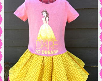 girls Belle Beauty and the Beast dress 4/5 6/6X 7/8 10/12 14/16 ready to ship