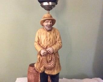Vintage McCoy Fisherman Lamp
