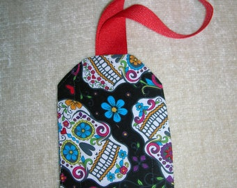 Luggage tags - Dia de Los Muertos, Dr. Who, Star Wars, and Cat in the Hat