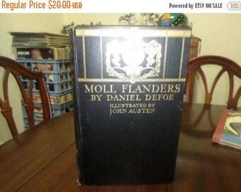 Save 25% Now Vintage 1929 Hardcover Book Moll Flanders Fortunes & Misfortunes Daniel Defoe John Austen Illustrated