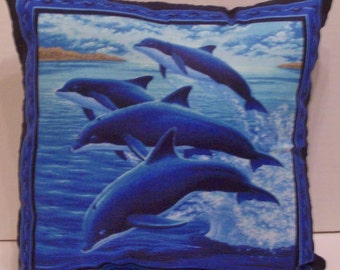 DOLPHINS and ORCA Whales Pillow! ~ 9.99 ~ 2 Scenes on 1 Pillow!