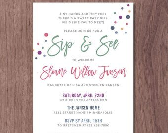 He S Here Baby Shower Meet And Greet Invitation