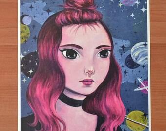 Star Gazer 8x10 Art Print