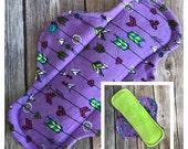 "9"" Velour Arrows and Hearts Cloth Menstrual Pad - Mama Cloth"