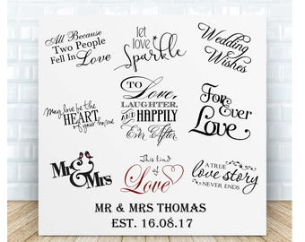 Wedding Quotes Personalised Ceramic Plaque