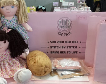 Make your own Rag Doll Sew Your Own Rag Doll Cloth Doll Fabric Doll Kit