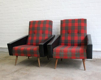 Pair Of Mid Century French Armchairs Circa 1960's