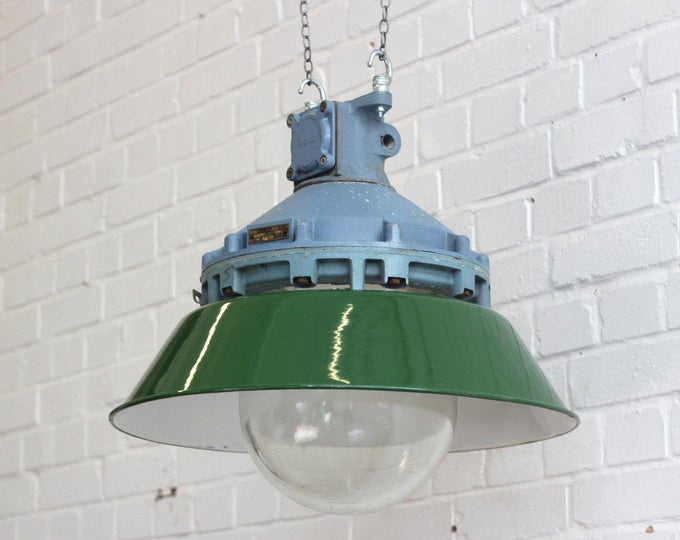 Large Industrial Lights By Victor Salvaged From The Truman Brewery London