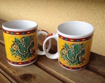 Cactus Mug, Arizona Mug, Hilo Hattie Mug,  Arizona Hilo Hattie Mug, Hibiscus Arizona Mug, Arizona Souvenir, Hilo Hattie Cup, Arizona Cup