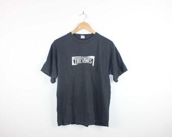 The Vines Australian Garage Rock Alternative Indie Band Black Tee Mens Tshirt Size Medium Expired