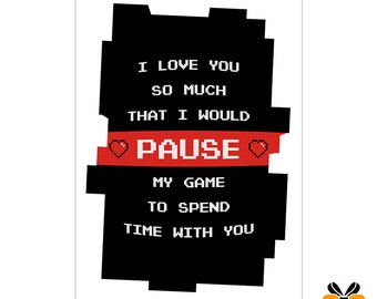 Pause - A5 Romantic Card