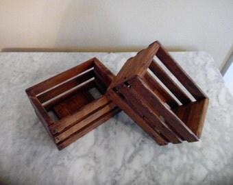 10 Rustic mini 3 slat crate value package