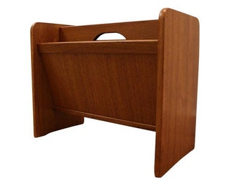 Mid-Century Danish Modern Teak PBJ Mobler Magazine/Newspaper Rack Holder
