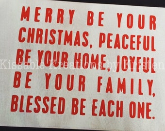 Merry Be Your Christmas Box Sign