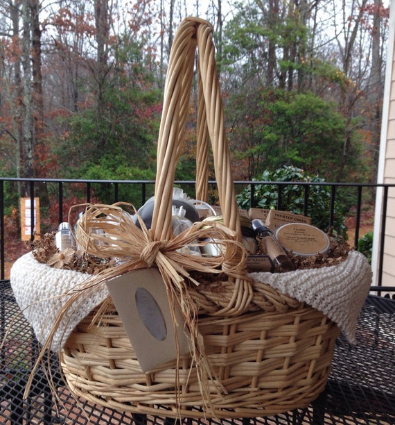 Chemo Survival Gift Basket Extra Large in Ivory for Cancer Patient Support