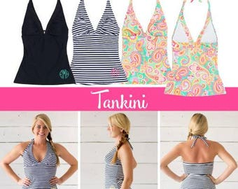 Women's 2pc Swimsuit Set / 2pc Tankini Set / Personalized Swimsuit / Monogrammed Swimsuits / FINAL INVENTORY