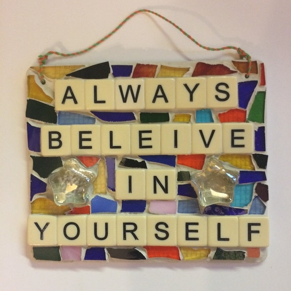 Stained Glass Mosaic Inspirational Quotes and Affirmations Made in Hawaii Deesigns by Harris©