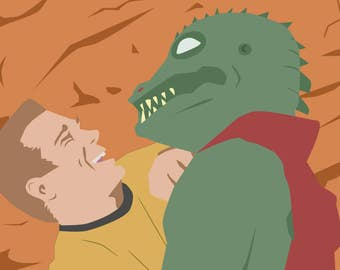 Captain Kirk and Gorn