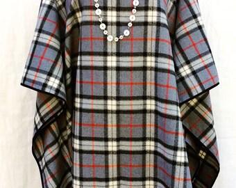 Elegant flannel poncho