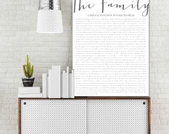 The Family Proclamation To The World Print, Gallery Wall Hanging, Custom Canvas Print, Home Decor, LDS prints, Mothers Day Gift, Wall Art