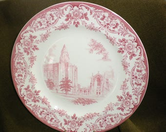 Boston University Commemorative Wedgwood Plates in a Set of Four