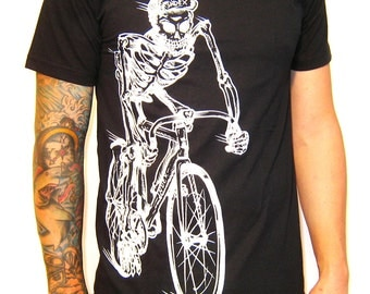 Death Fixie Skeleton Rider Tee