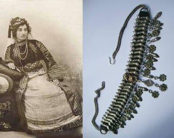 Antieke (18e eeuws!) zilveren Gerdanlik of Kirdan, Anatolië, Oost Turkije, Armeens