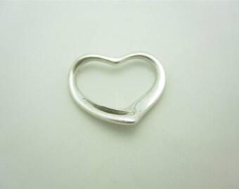 Vintage Tiffany & Co. Sterling Silver Elsa Peretti Medium Open Heart Pendant