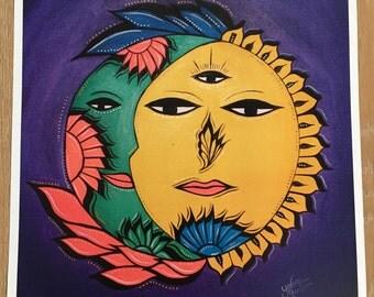 Sol y Luna Art Print