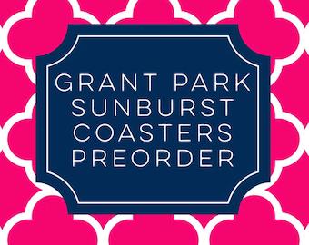 Grant Park Sunburst Address Sign Coasters (set of 4) - Preorder