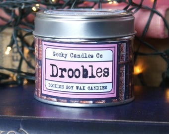 Droobles Bubblegum Scented Candle - Book Candle - Bubblegum Scented - Soy Candle - Container Candle - Jar Candle
