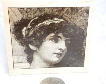 Renaissance Woman Rubber STamp by Renaissance Art stamp, Woman Stamp, Renaissance Woman stamp, Face Stamp, Art Journal Lady stamp, Collage