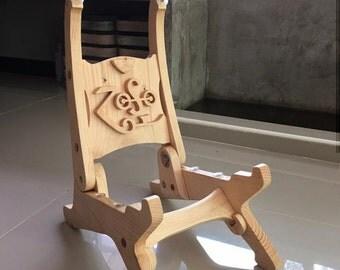 Guitar Stand. Guitar Equipment. Handicraft Woodcraft